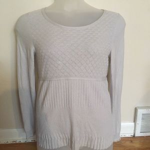 Anthropologie Guinevere gray wool blend sweater M